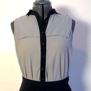 Dex Button Up Sleeveless Blouse